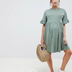 Asos maternity cotton mock dress